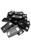 Pila de cassettes del vhs. fotos de archivo