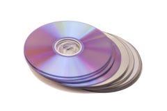 Pila de CD-ROM Disco del CD y de DVD foto de archivo libre de regalías