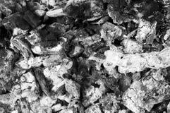 Pila de cenizas grises de la madera quemada Imágenes de archivo libres de regalías