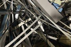 Pila de chatarra en taller de la fábrica fotografía de archivo