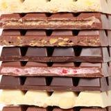 Pila de chocolate Fotografía de archivo