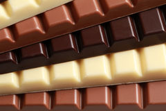 Pila de chocolate Foto de archivo