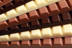Pila de chocolate Imágenes de archivo libres de regalías