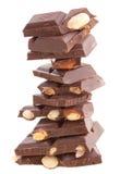 Pila de chocolate con leche Foto de archivo libre de regalías
