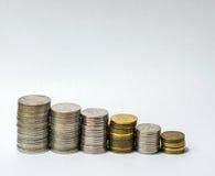 Pila de cierre del dinero encima de la fotografía Fotografía de archivo