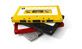 Pila de cinta de casete audio Fotos de archivo