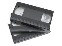 Pila de cintas de video foto de archivo