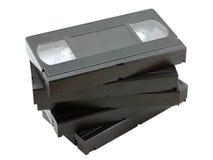 Pila de cintas de video viejas Imágenes de archivo libres de regalías
