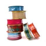 Pila de cintas del color fotos de archivo libres de regalías