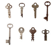 Pila de claves de la vendimia Imágenes de archivo libres de regalías