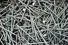 Pila de clavos del hierro Fotografía de archivo libre de regalías