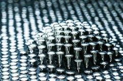 Pila de clavos del metal Fotografía de archivo libre de regalías