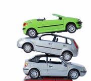 Pila de coches Fotografía de archivo libre de regalías