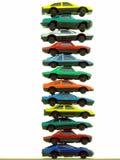 Pila de coches del juguete fotografía de archivo