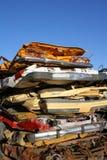 Pila de coches machacados Imágenes de archivo libres de regalías