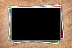 Pila de collage impreso de las imágenes fotografía de archivo libre de regalías