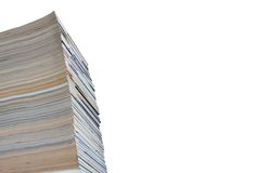 Pila de compartimientos y de jounals, aislada Imagen de archivo libre de regalías