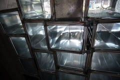 Pila de conductos de la estafa del aire Fotografía de archivo