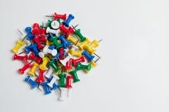 Pila de contactos del empuje Imagen de archivo