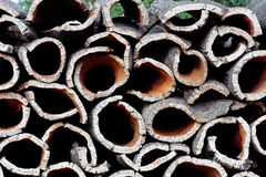Pila de corteza del roble de corcho Imagen de archivo