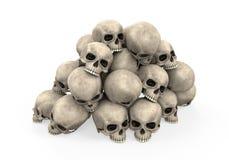 Pila de cráneos Foto de archivo