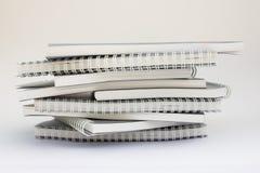 Pila de cuaderno Fotografía de archivo