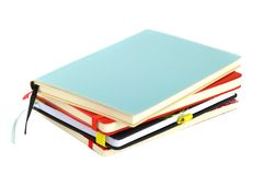 Pila de cuadernos Foto de archivo libre de regalías
