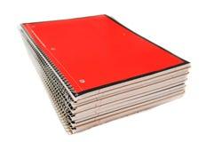 Pila de cuadernos espirales imágenes de archivo libres de regalías