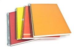 Pila de cuadernos espirales Foto de archivo libre de regalías