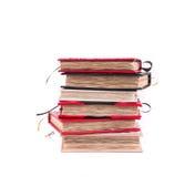 Pila de cuadernos hechos a mano Imágenes de archivo libres de regalías
