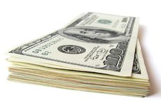 Pila de cuentas de $ 100 Foto de archivo libre de regalías