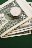 Pila de cuentas de dólar Foto de archivo libre de regalías