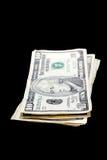 Pila de cuentas de dólar Imágenes de archivo libres de regalías