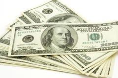 Pila de cuentas de dólar Imagen de archivo libre de regalías