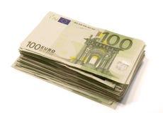 Pila de cuentas euro Fotos de archivo libres de regalías