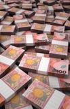 Pila de dólar de Nueva Zelanda Foto de archivo libre de regalías