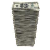 Pila de dólares Foto de archivo libre de regalías