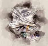Pila de dólares libre illustration