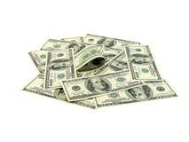 Pila de dólares americanos Fotografía de archivo libre de regalías