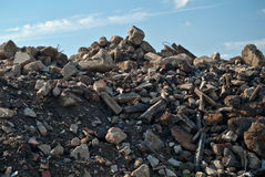 Pila de desperdicios de la construcción Foto de archivo