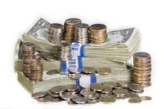 Pila de dinero foto de archivo