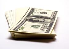 Pila de dinero Fotografía de archivo libre de regalías