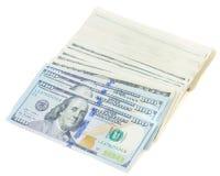 Pila de dinero de los dólares Imagen de archivo libre de regalías
