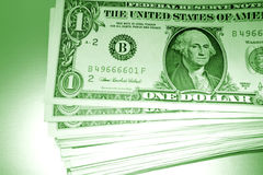 Pila de dinero de los E.E.U.U. imagenes de archivo