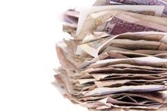 Pila de dinero en circulación chino Fotografía de archivo
