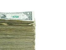 Pila de dinero en circulación de papel de los E.E.U.U. Imagen de archivo
