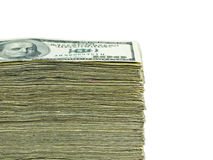 Pila de dinero en circulación de papel de los E.E.U.U. Imágenes de archivo libres de regalías