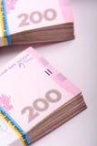 Pila de dinero ucraniano, hryvnia ucraniano Foto de archivo libre de regalías