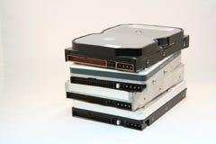 Pila de discos duros Imágenes de archivo libres de regalías