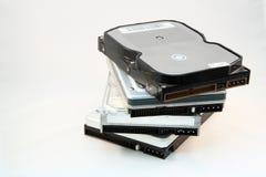 Pila de discos duros Imagen de archivo libre de regalías